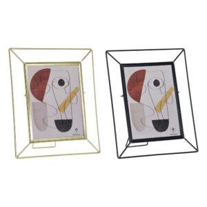 2 Molduras de Fotos DKD Home Decor Metal Cristal Moderno  (22.5 x 3 x 27.5 cm)