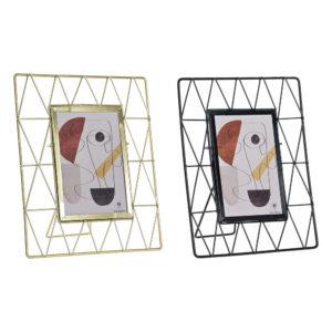 2 Molduras de Fotos DKD Home Decor Metal Cristal Moderno  (19.5 x 3 x 24.5 cm)