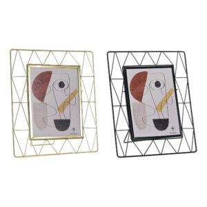 2 Molduras de Fotos DKD Home Decor Metal Moderno (25 x 3 x 29 cm)