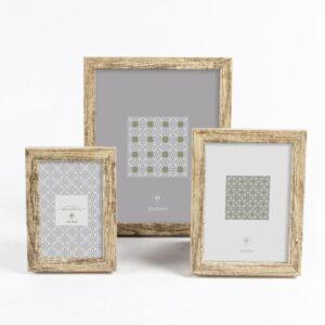 3 Molduras de Fotos DKD Home Decor Madeira Boho (10 x 2 x 15 cm)
