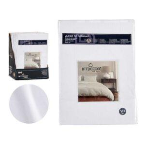 Conjunto de Lençóis Cama de 90 Branco (3 Peças)