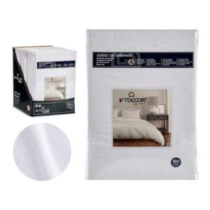 Conjunto de Lençóis Cama de 150 Branco (3 Peças)