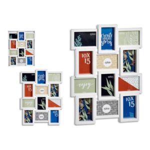 Porta-retratos Múltiplo Branco Cristal Plástico (44,5 x 2,5 x 58,5 cm)