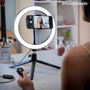 Aro de Luz Selfie com Tripé e Controlo Remoto Youaro - VEJA O VIDEO