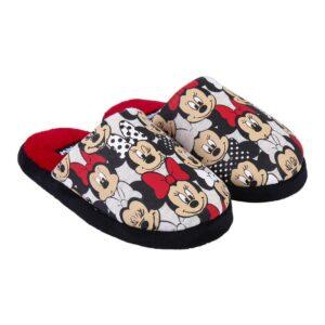 Chinelos Para Crianças / Adultos Minnie Mouse Vermelho 32-33