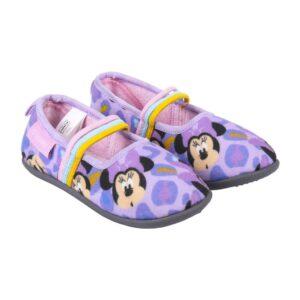 Pantufas Para Crianças Minnie Mouse Lilás 25