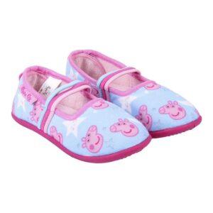 Pantufas Para Crianças Peppa Pig Azul Claro 28