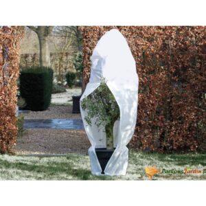 Protetor de Plantas Contra Geada Nature c/ fecho 70g/m² 1,5x1,5x2m branco - PORTES GRÁTIS