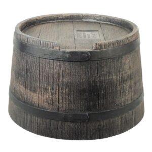 Nature Suporte barril água da chuva aspeto madeira 45x28,5 cm castanho  - PORTES GRÁTIS