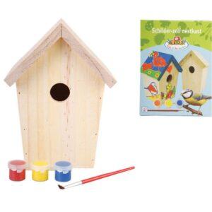 Esschert Design DIY Nesting Box com pintura 14.8x11.7x20 cm KG145 - PORTES GRÁTIS