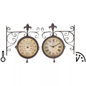 Esschert Design Relógio estação meteorológica c/ termómetro TF005 - PORTES GRÁTIS