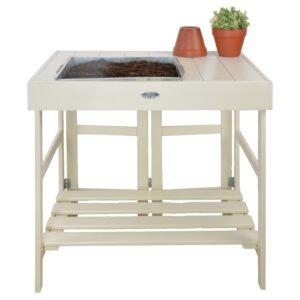 Esschert Design Mesa de jardinagem branco - PORTES GRÁTIS