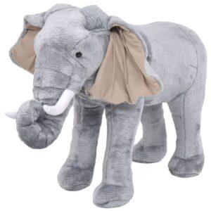 Elefante de montar em peluche cinzento XXL - PORTES GRÁTIS
