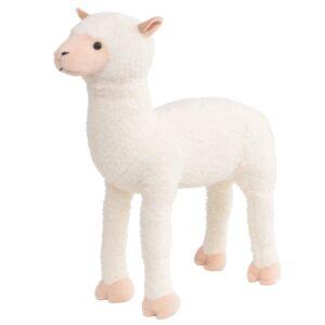 Brinquedo de montar alpaca peluche branco XXL - PORTES GRÁTIS