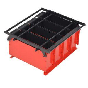 Prensa de briquetes de papel em aço 38x31x18 cm preto/vermelho - PORTES GRÁTIS