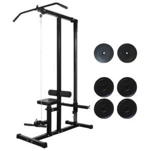 Torre de musculação com discos 40 kg - PORTES GRÁTIS