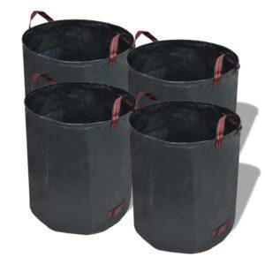 Sacos de jardim para lixo, 4 peças  272 L 150 g/sqm, verdes - PORTES GRÁTIS