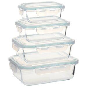 4 Recipientes para alimentos vidro - PORTES GRÁTIS