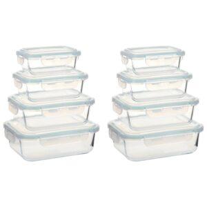 8 Recipientes para alimentos vidro - PORTES GRÁTIS