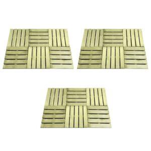 Pavimento Para Pátios -Varandas - Piscina 18 pcs 50x50 cm madeira verde - PORTES GRÁTIS