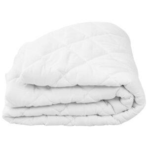 Protetor de colchão acolchoado 90x200 cm leve branco  - PORTES GRÁTIS