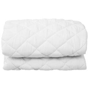 Protetor de colchão acolchoado 140x200 cm leve branco  - PORTES GRÁTIS