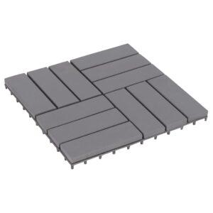 Pavimento de Terraço - Jardim ou Varanda 10 pcs 30x30 cm acácia maciça cinzento - PORTES GRÁTIS