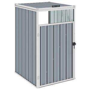 Abrigo para caixote do lixo 72x81x121 cm aço cinzento - PORTES GRÁTIS
