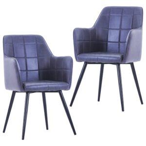 Cadeiras de jantar 2 pcs camurça artificial cinzento - PORTES GRÁTIS