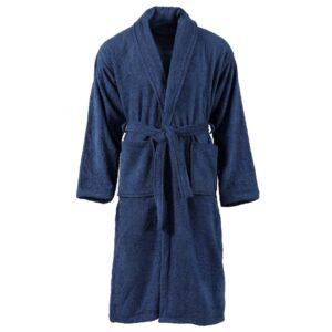 Roupão turco unissexo 100% algodão tamanho XL azul-marinho - PORTES GRÁTIS