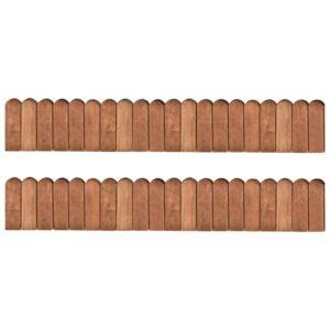 Bordaduras em rolo 2 pcs 120 cm madeira de pinho impregnada - PORTES GRÁTIS