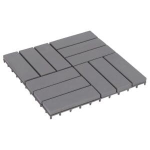Pavimento de Terraço - Jardim ou Varanda 20 pcs 30x30 cm acácia maciça cinzento - PORTES GRÁTIS