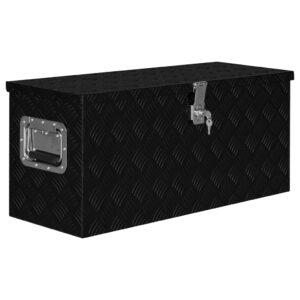 Caixa de alumínio 80x30x35 cm preto  - PORTES GRÁTIS