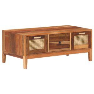 Mesa de centro 100x50x40 cm madeira recuperada maciça - PORTES GRÁTIS