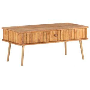 Mesa de centro 100x50x40 cm madeira de acácia maciça - PORTES GRÁTIS