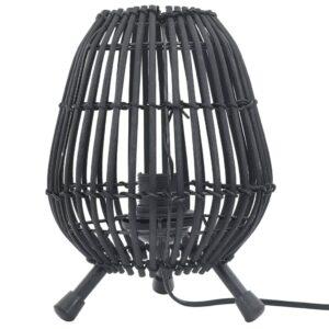 Candeeiro de pé para mesa 60 W 20x27 cm E27 salgueiro preto - PORTES GRÁTIS