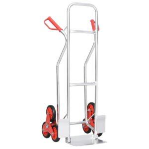 Carrinho transp. carga escadas c/ 6 rodas 51x53,5x118 cm 150 kg - PORTES GRÁTIS
