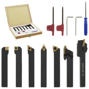 12 pcs conj. ferramentas torneamento intercambiável 8x8mm 60mm - PORTES GRÁTIS