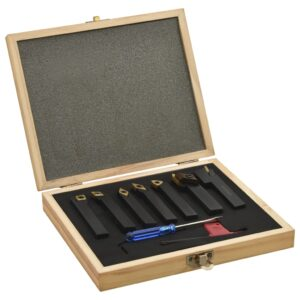 12 pcs conj. ferramentas torneamento intercamb. 12x12mm 80mm - PORTES GRÁTIS