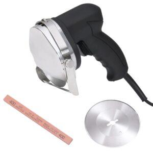Fatiador Doner Kebab elétrico 2 lâminas e pedra amolar 100 mm - PORTES GRÁTIS