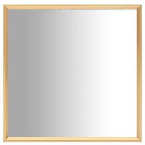 Espelho 40x40 cm dourado - PORTES GRÁTIS