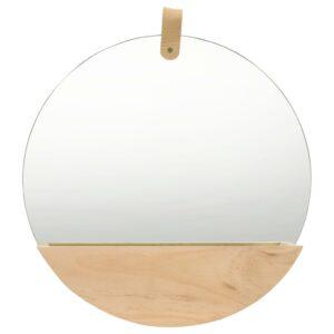 Espelho de parede em pinho maciço 35 cm - PORTES GRÁTIS