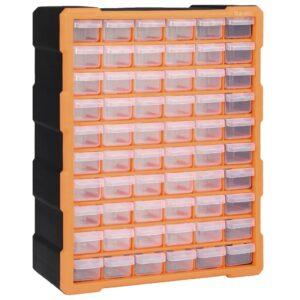 Caixa organizadora com 60 gavetas 38x16x47,5 cm - PORTES GRÁTIS
