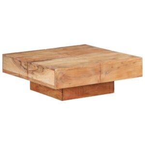 Mesa de centro 80x80x28 cm madeira de acácia maciça - PORTES GRÁTIS