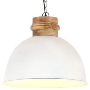 Candeeiro de teto industrial redondo 50 cm E27 mangueira branco - PORTES GRÁTIS