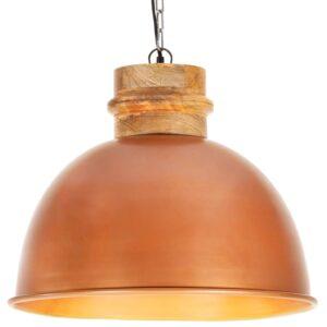 Candeeiro de teto industrial redondo 50 cm E27 mangueira cobre - PORTES GRÁTIS