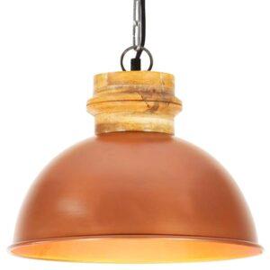 Candeeiro de teto industrial redondo 32 cm E27 mangueira cobre - PORTES GRÁTIS