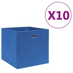 10 Caixas arrumação tecido-não-tecido 28x28x28 cm azul - PORTES GRÁTIS