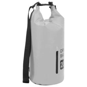 Bolsa impermeável com fecho 20 L PVC cinzento - PORTES GRÁTIS