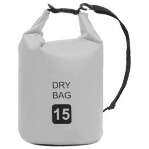 Bolsa impermeável 15 L PVC cinzento - PORTES GRÁTIS